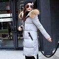 Плюс размер Сгущает зимняя куртка женщины Длинные Зимняя Куртка Женщин Тонкий Пальто Куртка Хлопка с капюшоном зимнее пальто теплое С Капюшоном новый