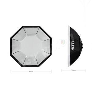 "Image 3 - Godox Pro 95 cm 37 ""Octagon siatki o strukturze plastra miodu Bowens Mount Softbox reflektor Softbox do Studio Strobe Flash Light"