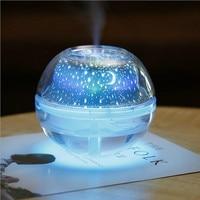 500ML Portable USB Air Ultrtasonic Humidifier with Beautiful Projector Colorful Nightlight Mist Maker Fogger Humidifiers     -
