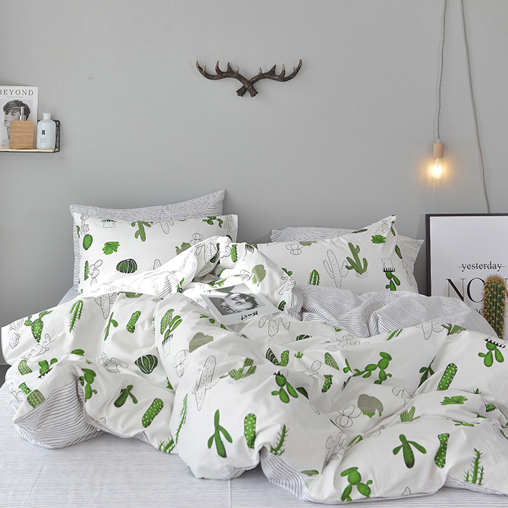 Svetanya Cactus Pineapple Bedding Set 100 Cotton Bedlinen Twin Single Double Queen King Size sheet Pillowcase