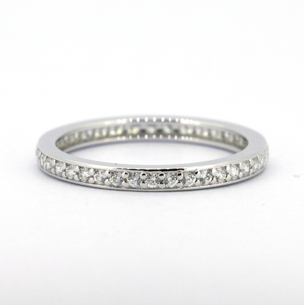 Solid Sterling Silver Cz Stones Ring