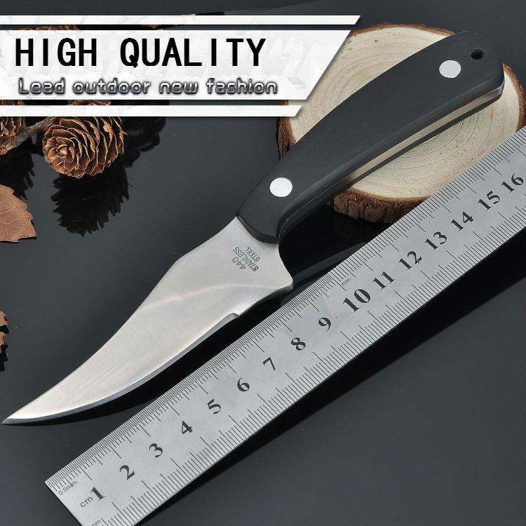 Diving font b Knife b font 440 Steel Blade 57HRC Survival font b Knife b font