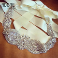 2016 new shiny Crystals Rhinestones Beaded Appliques Bridal Belt accessories beautiful Wedding Sash For special occasion Dresses
