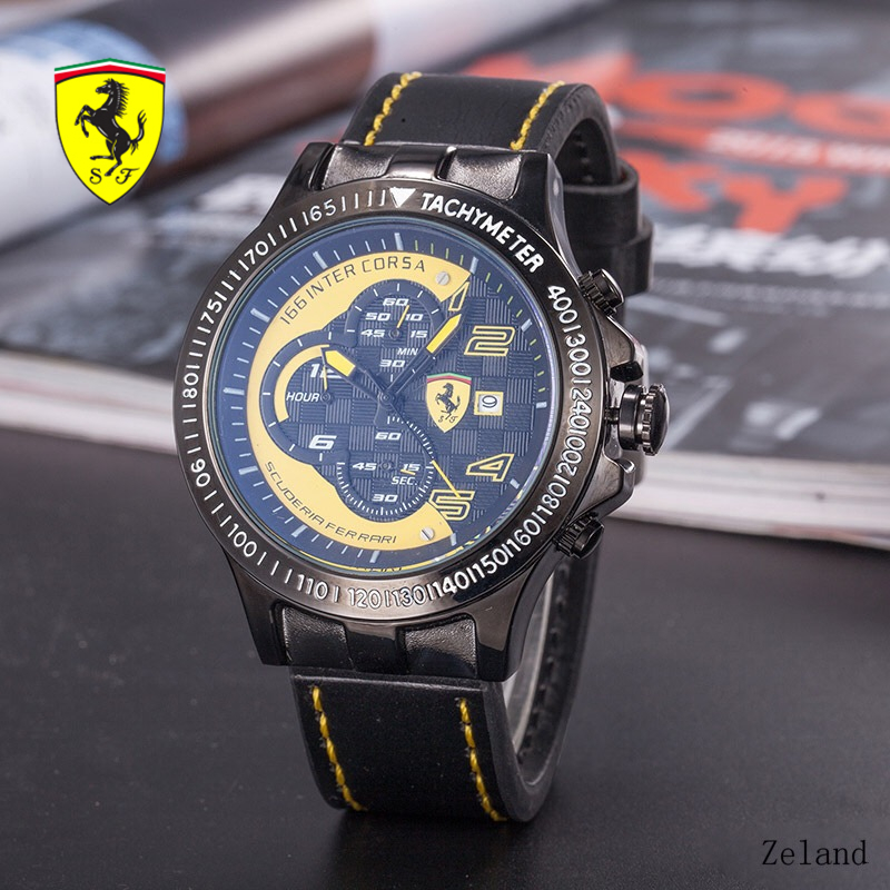 SCUDERIA FERRARI Fashion Casual Watch Complete Calendar Round Wrist Watches 5Bar Water Resistant Quartz Wristwatches R5632899 все цены