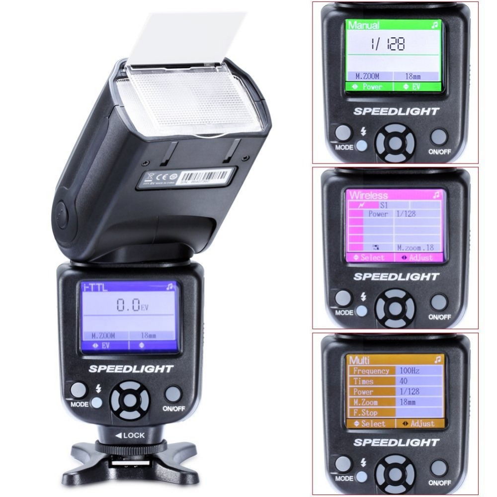 TRIOPO TR 985C Color LCD e TTL 1 8000 HSS Wireless Flash Light Speedlite for Canon