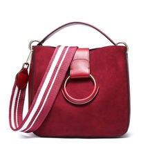 539e1e50bc7b 2018 зимняя брендовая паста в стиле ретро замшевая женская сумка из  натуральной кожи сумка-мешок