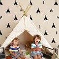 Conjunto de 68 Tribal decalques tenda seta crianças quarto decalque adesivos wallpattern adesivo de parede Mural nursery decoração D498