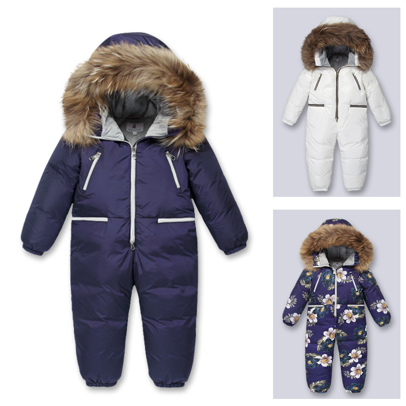 Large size children's winter down jacket 6T-10T children's winter cold pike coat Boy and girl ski waterproof down jacket pu leather and corduroy spliced zip up down jacket