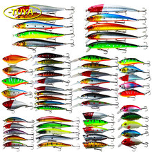A wide selection of/lot plastic fishing lures  fish bait/ vibration / swing artificial bait bait fishing tackle