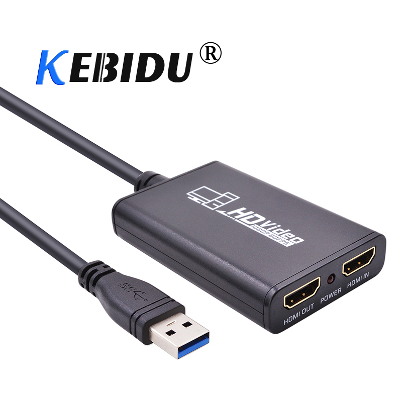 kebidu 1080P HD HDMI to USB 3 0 Video Game Capture Box Card HDMI Recorder Device