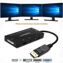 Displayport hdmi DVI VGA dönüştürücü DP 4 in 1 ses USB kablosu çok fonksiyonlu adaptör PC bilgisayar monitör multimedya