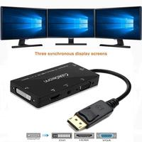 4 In 1 Display Port DP To VGA HDMI DVI Audio USB Cable Adapter Converter For
