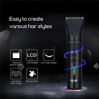 100 240V RIWA RE 5801 Professional Hair Clipper LCD Display Men S Hair Trimmer Rechargeable Hair