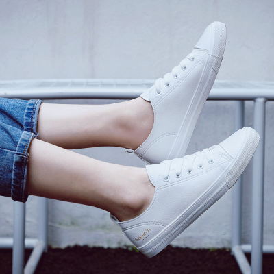 2018 summer new fashion women shoes casual flats PU leather soft solid color simple women casual white shoes sneakers