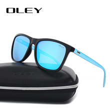 OLEY Unisex Square Sunglasses Men Polarized women brand desi