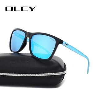 Мужские и женские квадратные очки OLEY, поляризованные солнцезащитные очки унисекс в стиле ретро, Y55086
