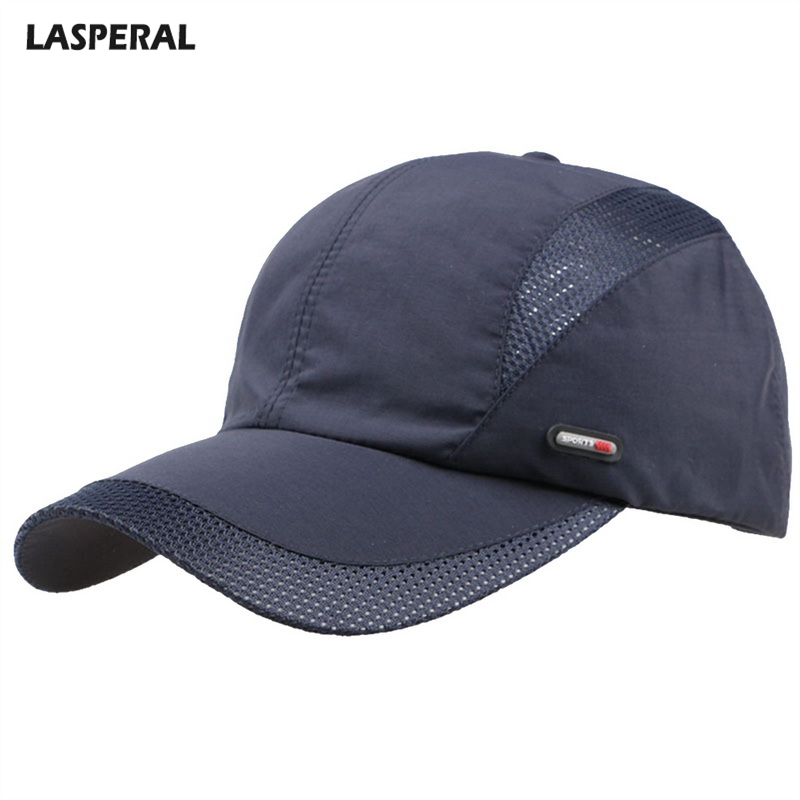 LASPERAL Adjustable Sport Duckbill Hat Breathable 2018 Fashion Men Summer Autumn Cotton Adult   Baseball     Cap   Mesh Solid Color