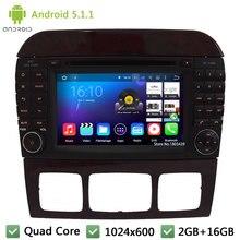 Quad core Android 5.1.1 1024*600 Car DVD Player Radio Audio Stereo Screen GPS For Benz CL-W215 S Class W220 S350 S400 S500 S600