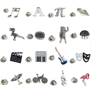 Cuffarts Lapel Pin For Men 2018 Fashion Brooch Lapel Pin Men Jewelry Trendy Small Badges Music Letter Animal High Quality PT001(China)