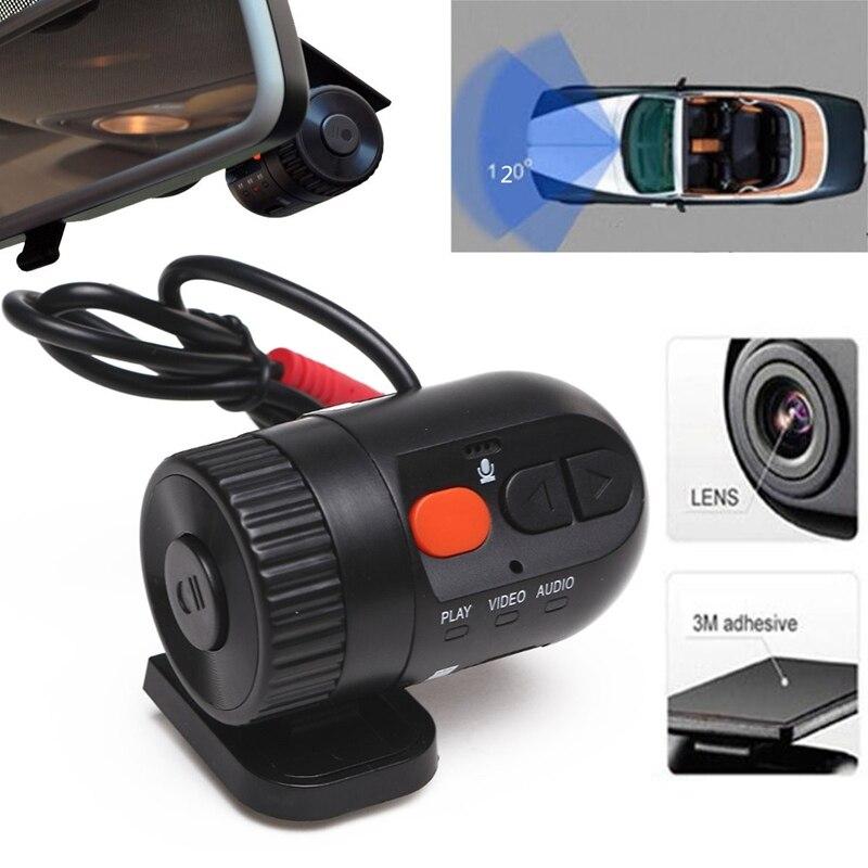 imágenes para MINI Car Dash Cam DVR Grabador Videocámara Auto 720 P Resolución HD 360 Grados Lente Gran Angular Support128MB-32GB Tarjeta SD Noche visión