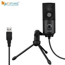 Microfone de gravação usb adaptado para computador, windows, laptop, alta sensibilidade para instrumento, gravação de vídeo, k669b