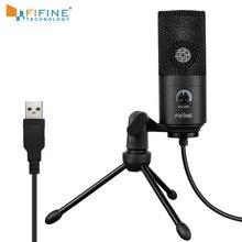 Mikrofon do nagrań gniazdo USB garnitur do komputera Windows laptop wysoka czułość do nagrywania gier instrumentalnych K669B