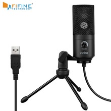 Recording Microphone USB Socket suit for Computer Windows MacBook High Sensitivity for Instrument Game Video Recording K669B cheap FIFINE Tabletop Electret Microphone Computer Microphone Single Microphone Uni-directional Wired 20Hz-20kHz -34dB+- 30 (at 1 kHz)