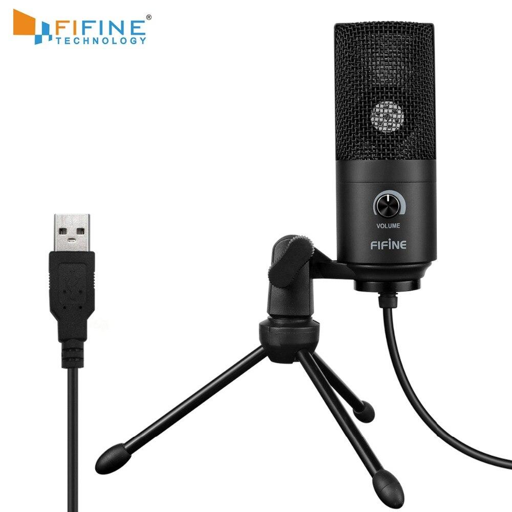 Микрофон для записи, usb разъем, подходит для компьютера, Windows, ноутбука, высокой чувствительности, для игрового инструмента, записи видео, K669BМикрофоны    АлиЭкспресс