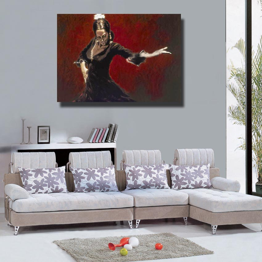 Aliexpress.com : Buy Spanish Oil Painting Living Room Wall Picture Large  Canvas Paintings Women Wall Art Home Decor Artwork No Framed From Reliable  Wall ... Part 66