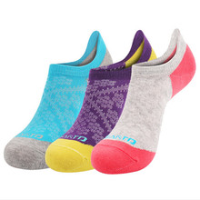 3 Pairs SANTO NS041 80% Cotton Outdoor Sock Slippers Womens Sports Socks Running Quick Dry Spring Summer Fit to Size 35-38