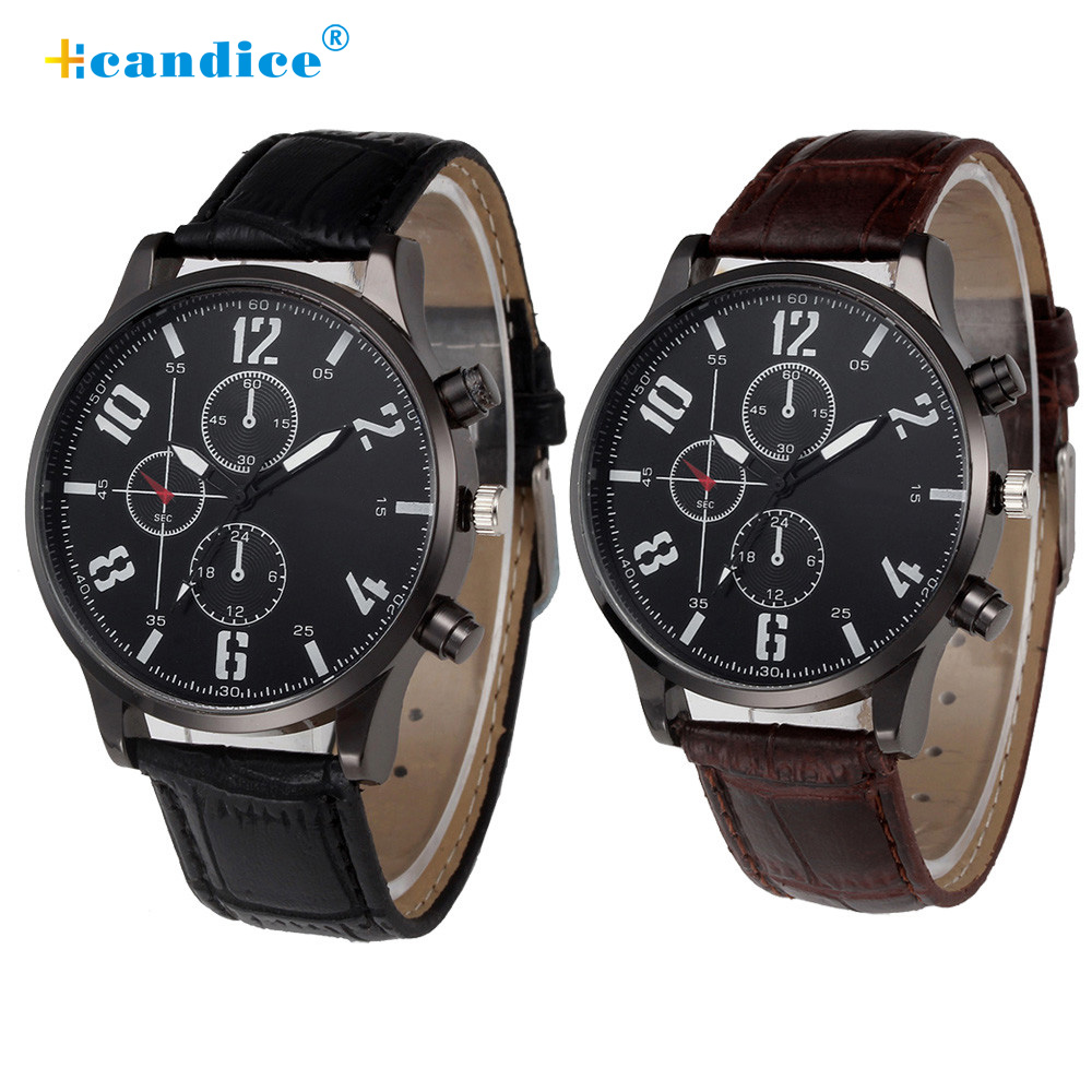 2018 Top Brand Large Dial Military Quartz Men Watch Leather Sport watches High Quality Clock Wristwatch Relogio Masculino Reloj new 2017 relogio masculino reloj watch men quartz sport military stainless steel dial leather band wristwatch clock gift1114d 50