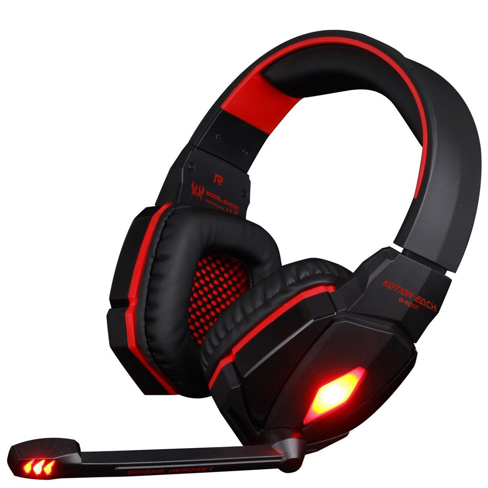 G4000 3.5mm LED Light Headband With Mic Clear Bass Noise Canceling Headset Professional Gaming Headphone For Computer PS4 Laptop g1100 3 5mm pro gaming headset headphone for ps4 laptop crack pattern led led blue black red white