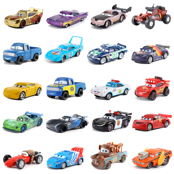 Disney Pixar Cars 3 Mater Jackson Storm Ramirez Toy Car McQueen 1:55 Die-cast Metal Alloy Model Toy Car 2 Childrens Gifts image