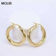 MGUB Big Earrings New Trendy Gold color Hoop Earrings Jewelry Wholesale Round Large Size Hoop Earrings For Women LHEH74