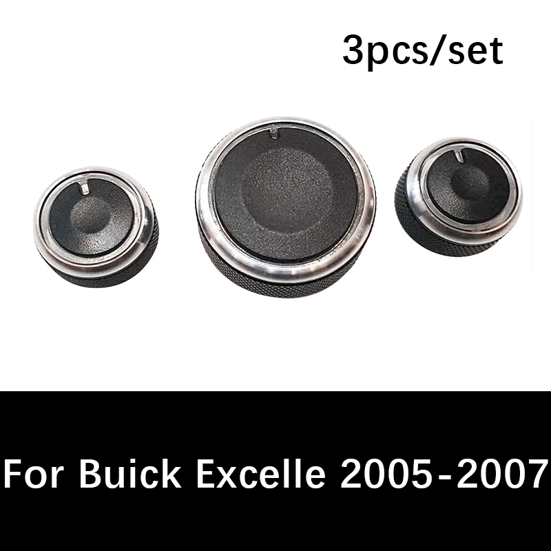 Buy 3pcs/set Car air conditioning knob For Buick Excelle 2005 2006 2007 heat control switch knob ac knob auto car accessories for only 5.48 USD