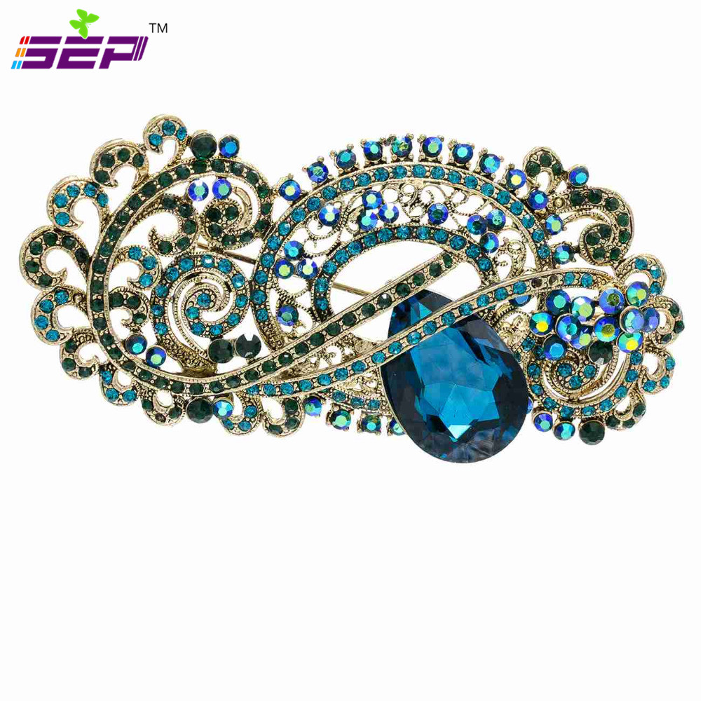 Vintage Style Brooch Rhinestone Crystals Broach Pins for Women Jewelry Accessories 3 5 inches 4909
