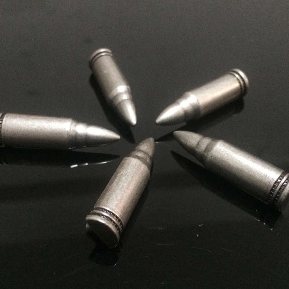 50 ADET 9X36 MM Antik Gümüş Mermi Çıtçıt Mermi Perçin Punk Bullet Spike Ayakkabı bel çantası Aksesuarları Deri El Sanatları ücretsiz kargo