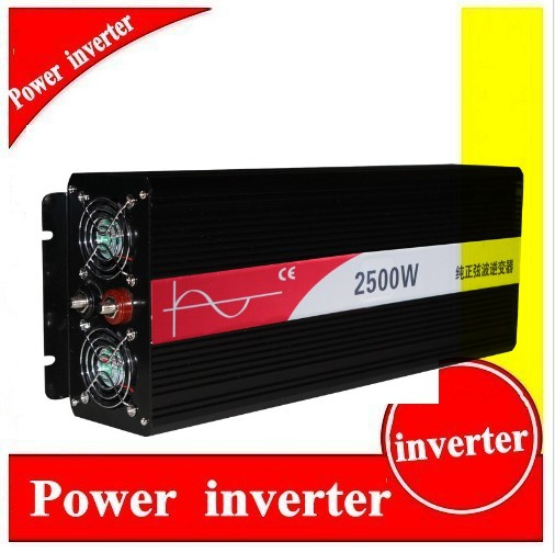 Reliable 2500W (Peak 5000w) Pure Sine Wave Inverter Off Grid dc to ac Power Converter Solar System Power Inverter home inverter fast shipping dc to ac 12v to 220v pure sine wave inverter 5000w peak 10000w inverter pure sine wave power converters