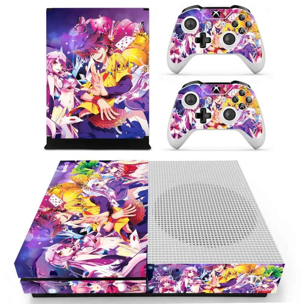Anime ładna dziewczyna bez gry bez życia skórka naklejka naklejka na konsolę Xbox One S i kontrolery na Xbox One Slim naklejki na skórę winyl