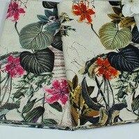 Cotone e lino etnico grande fiore cinese stile floreale stampato tessile per diy lavoro manuale tovaglia tende camicetta vestito tessuto