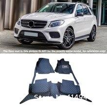 Для Mercedes Benz GLE купе C292 2015-2016 подкладке кожаный заказ автомобиля Стайлинг авто спереди и сзади Коврики ковры полное покрытие
