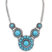 Лидер продаж Модные украшения 3 цвета колье коренастый заявление Цепочки и ожерелья Для женщин вечерние в богемном стиле Стиль ожерелья с подвесками с бусинами
