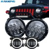 HJYUENG For Jeep Wrangler JK 105w 7Inch Round Hi Low DRL Amber Turn Signal Led Headlight