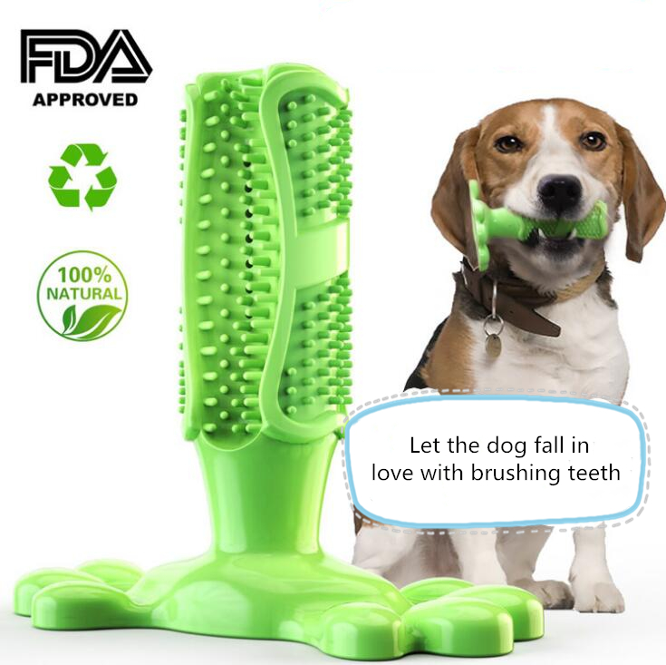 Dog Chew Toys Dogs Toothbrush Pet Molar Tooth Cleaner Brushing Stick Doggy Puppy Dental Care Dog Pet Supplies image