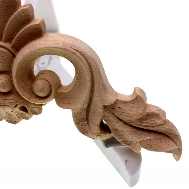 RUNBAZEF Wood Carving  Flower of European Furniture Door Small Home Decoration Crafts Figurines Miniatures Accessories 5