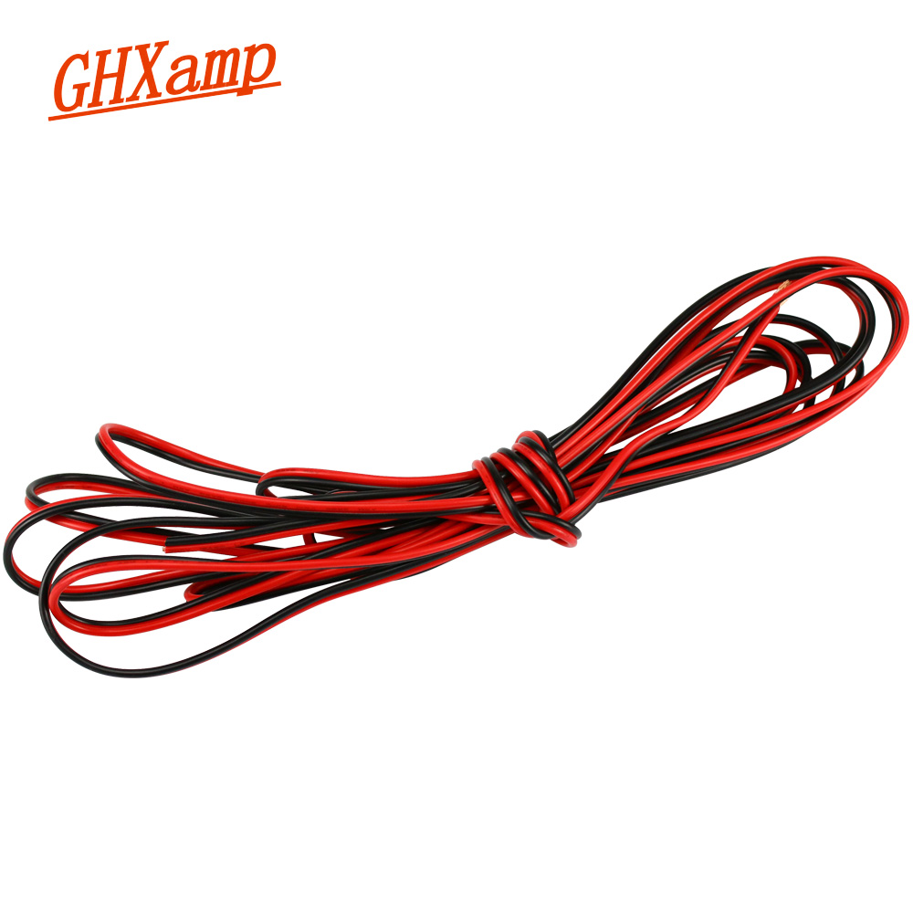 GHXAMP Speaker Cable Audio Line Pure Copper Red Black Woofer Full Range Loudspeaker Cable 1MM Surround Wire Higt Quality 1 Meter