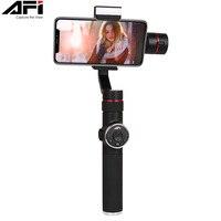 AFI V5 Stabilizer For Phone Gimbal 3 Axis Handheld Smartphone stabilizer cellular phone Selfie Sticks For Gopro Action Camera