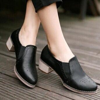 Nice Fashion Round Toe Thick Heel