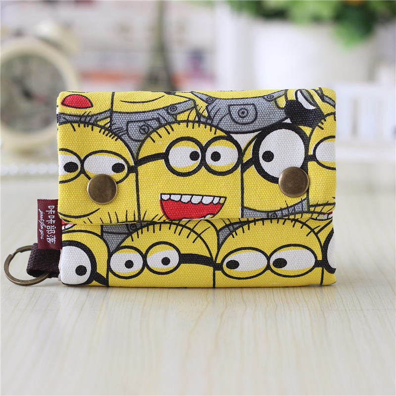 Canvas cartoon womens wallets men key bag card bags bolsa feminina carteira masculina bolsas bolsos mujer for kids girls boys