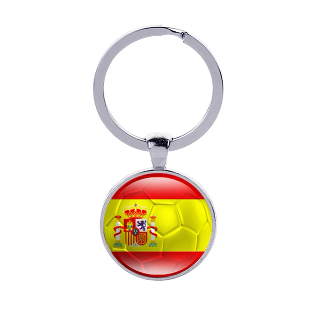 2018 World Cup Key Ring Strong 32 Countrys Peru Sweden Tunisia Senegal Soccer Key Chains Souvenir Football Keychains To Ensure Smooth Transmission
